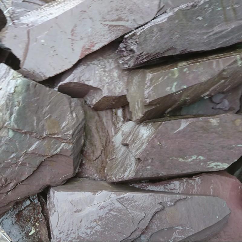 300-400mm Plum Slate Rockery