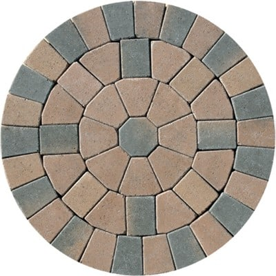 Barleystone Paving Circle Kit Chestnut
