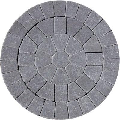 Barleystone Paving Circle Kit Damson