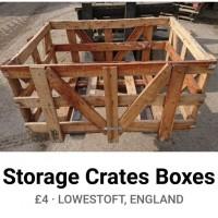 Wood Storage Crate's  110cm x 75cm x 60cm
