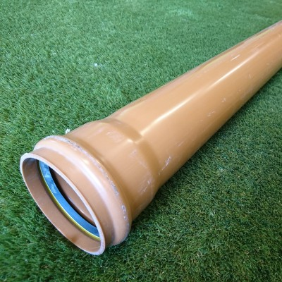 110mm 6mtr Single Socket Pipe